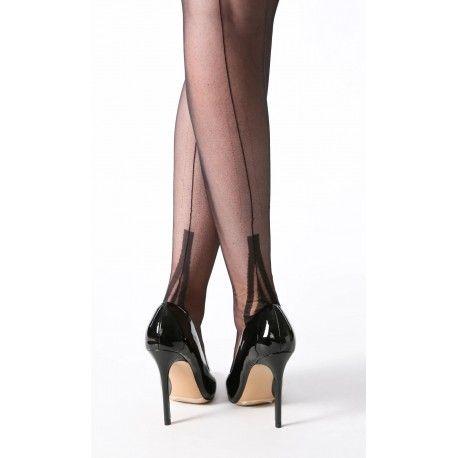 bas couture FF talon Lafayette Noir GIO - 1