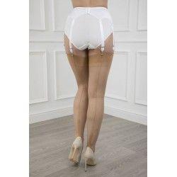 Seamed Stockings FF Susan Heel Natural