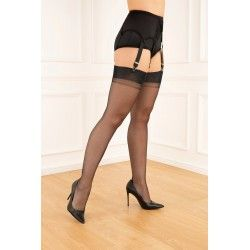 Seamed Stockings FF Cuban Heel Black