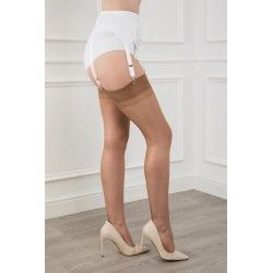 Seamed Stockings FF Cuban Heel Bronze