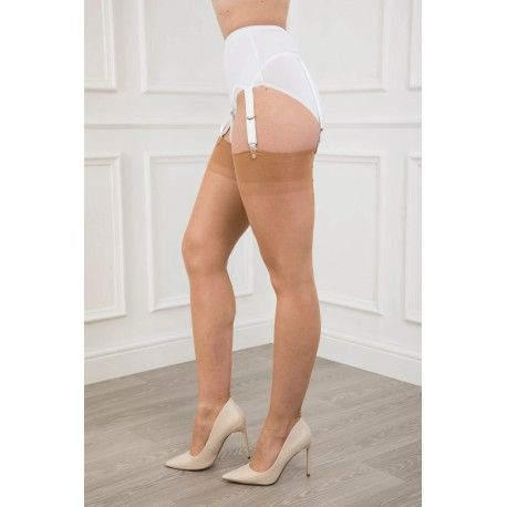 Seamed Stockings FF Point Heel Natural