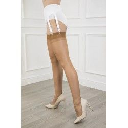 Seamed Stockings FF Point Heel Bronze
