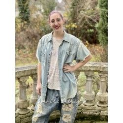chemise Marfa Pearl in Washed Indigo