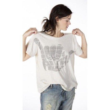 T-shirt Hang Loose in Moonlight Magnolia Pearl - 1