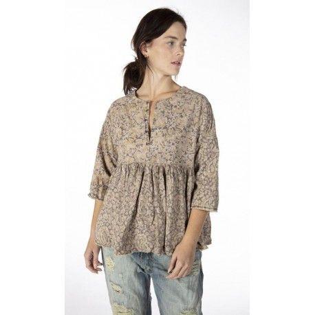 blouse Ojai in Kalamkari Magnolia Pearl - 1