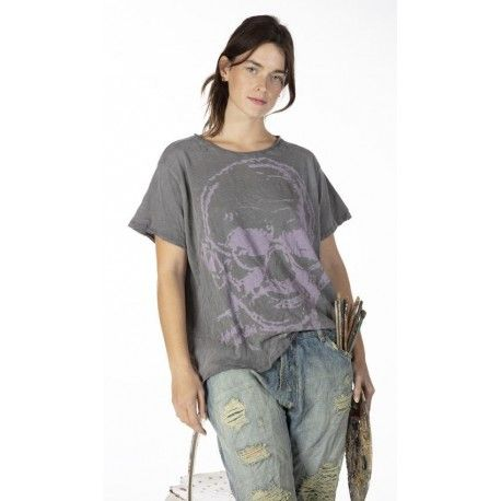 T-shirt Mahatma Gandhi - The Great Soul in Ozzy Magnolia Pearl - 1