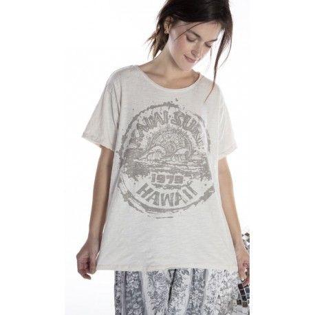 T-shirt Kauai Surf in Moonlight Magnolia Pearl - 1