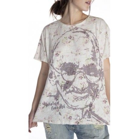 T-shirt Gandhi in Wisdom Magnolia Pearl - 1
