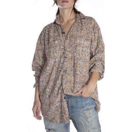 chemise Lucchese in Kalamkari
