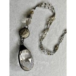 Collier Substitution for crystal in Silver Button