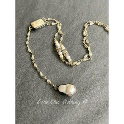 Necklace Single pearl in Mother of pearl DKM Jewelry - 1