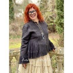 jacket 66352 Vintage black linen