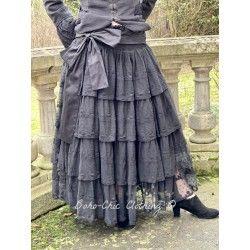 skirt / petticoat 22992 Vintage black embroidered tulle