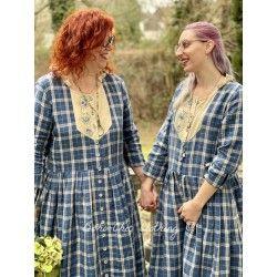 robe 55703 lin à Carreaux