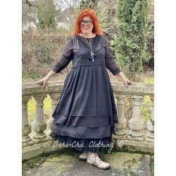 robe 55688 organdie Noir ancien