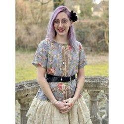 blouse 44769 Flower print voile