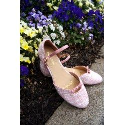 shoes Juliette Blush Tweed