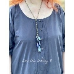 Necklace Crystal Tassel in Blue