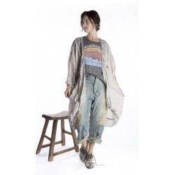 jacket Kimono in Khaelana Magnolia Pearl - 1