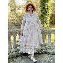robe 55688 organdie Rose poudre