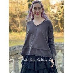 pullover 44764 Vintage black jersey