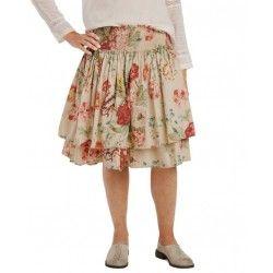 skirt / petticoat 22998 Flower print cotton