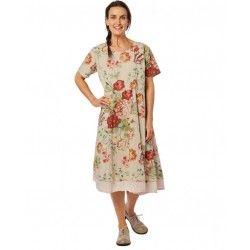 dress 55702 Flower print cotton