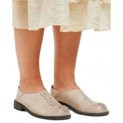 shoes 99170 Cream leather