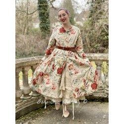 long jacket 66349 Flower print cotton Ewa i Walla - 1