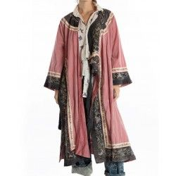oriental coat Miggy in Faded Beet
