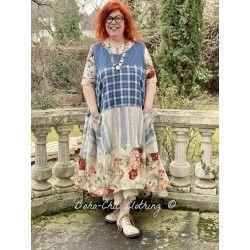 dress 55705 Ticking stripe linen