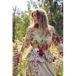 jacket 66348 Flower print cotton