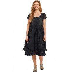 dress 55689 Vintage black organdie
