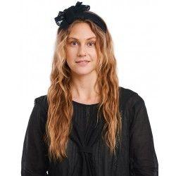 scarf 77512 Vintage black embroidered tulle