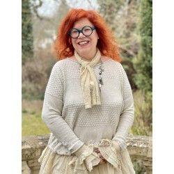 pullover 44786 Cream cotton knit