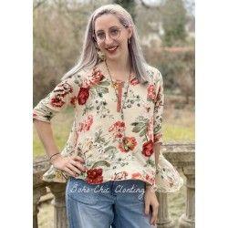 blouse 44766 Flower print jersey