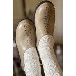 Chaussures 99170 cuirCrème