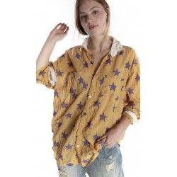 shirt Boyfriend in Extragalactic Magnolia Pearl - 1