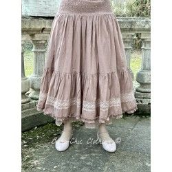 skirt / petticoat ELSA pink striped cotton