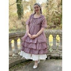 dress SANDIE plum organza Les Ours - 1