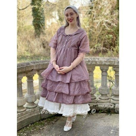 robe SANDIE organza prune Les Ours - 1