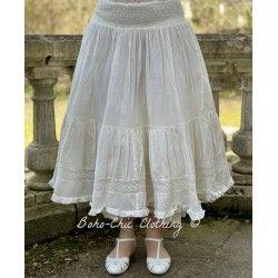 skirt / petticoat ELSA ecru stripped cotton