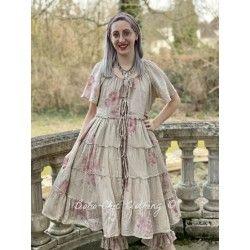 jacket dress FLORETTE floral cotton voile Les Ours - 1