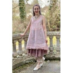 robe LAURINE organza rose