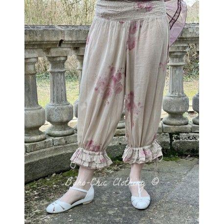 panty / pantalon ROBERT voile de coton fleurs Les Ours - 1