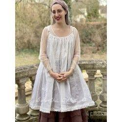 robe LAURIE organza écru Les Ours - 1