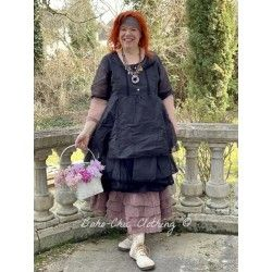 dress SANDIE black organza Les Ours - 1