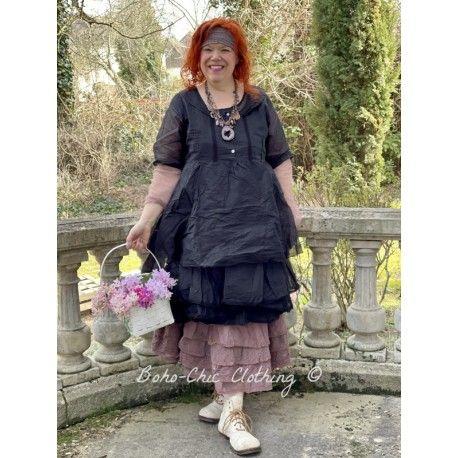 robe SANDIE organza noir Les Ours - 1