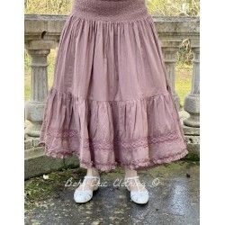skirt / petticoat ELSA plum striped cotton