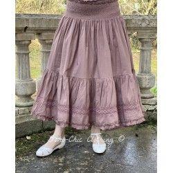 skirt / petticoat ELSA plum striped cotton Les Ours - 1